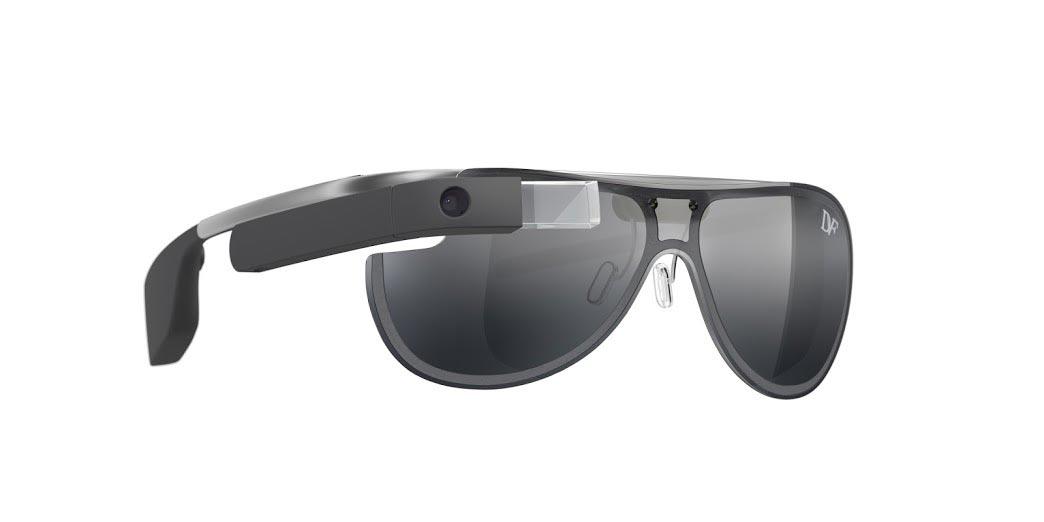 Fekete Google Glass keret